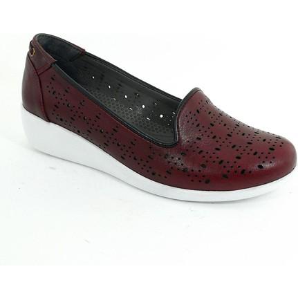 Diego Carlotti 113371-01 Bordo Kadın Günlük Ayakkabı