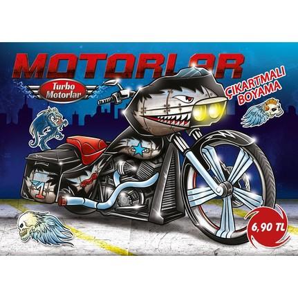 Turbo Motorlar çıkartmalı Boyama 5 Kitap Takım Fiyatı