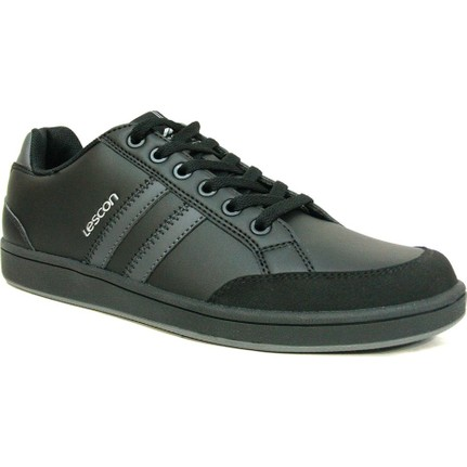 Lescon L5042 Siyah Bağcıklı Sneakers Erkek Spor Ayakkabı  Ücretsiz Kargo