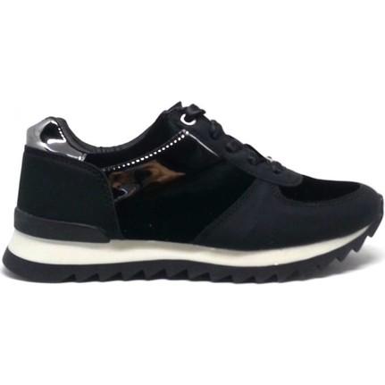 Shop And Shoes 066-1415 Siyah Kadife Kadın Ayakkabı