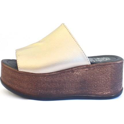 Shop And Shoes 066-5212 Altın Kadın Terlik