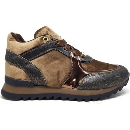 Shop And Shoes 066-6344 Taba Bal Kadife Kadın Ayakkabı