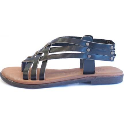 Shop And Shoes 155-103 Siyah Kadın Sandalet