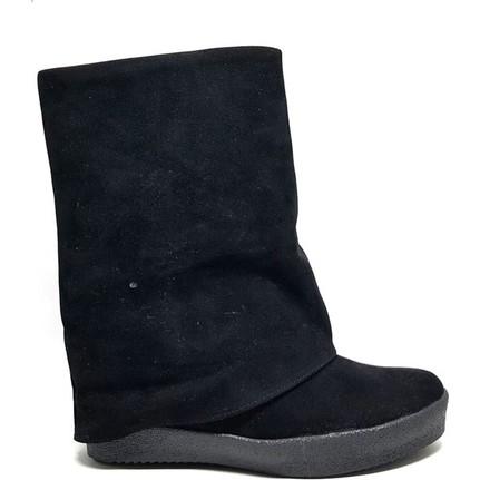 Shop And Shoes 172-1606 Siyah Süet Kadın Bot