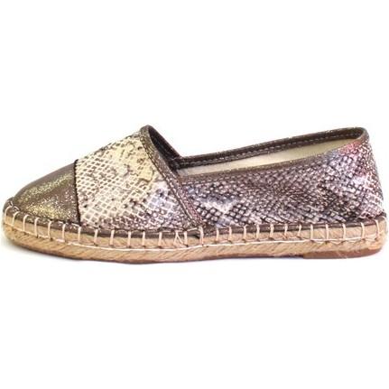Shop And Shoes 172-3403 Platin Yılan Kadın Ayakkabı