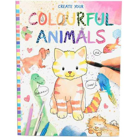 Top Model Renkli Hayvanlar Boyama Kitabi 8916 Fiyati
