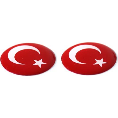 ModaCar Türk Bayrağı Damla Sticker 06a098