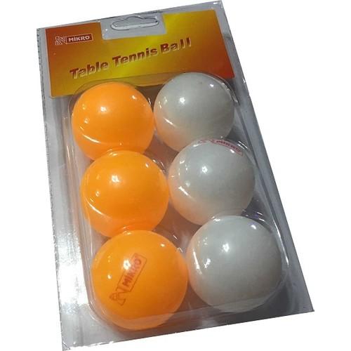 Mikro Pinpon Topu 6 Adet 3 Beyaz 3 Turuncu Fiyati
