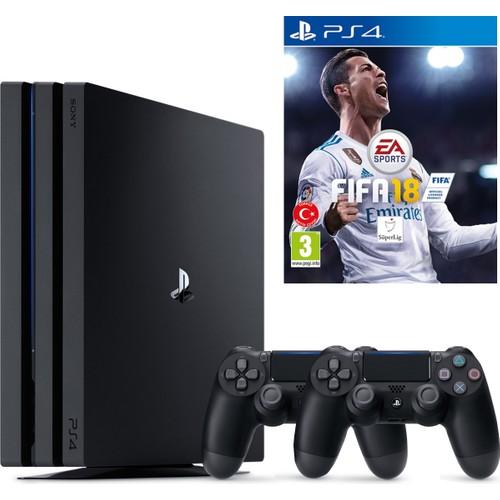 Sony Playstation 4 Pro 1 Tb ( Ps4 Pro ) + 2. Ps4 Kol + Ps4 Fifa 18