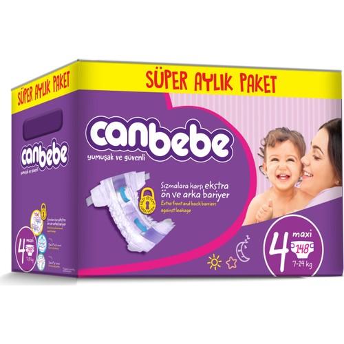Canbebe Bebek Bezi Online Özel Paket 4 Beden 148 Adet