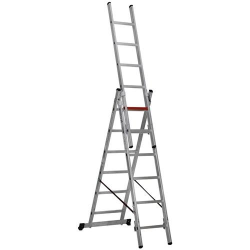 Çağsan 3x6 Basamaklı Üç Parçalı Çok Amaçlı Alüminyum Merdiven
