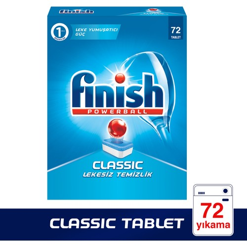 Finish Powerball Classic Bulaşık Makinesi Deterjanı 72 Tablet