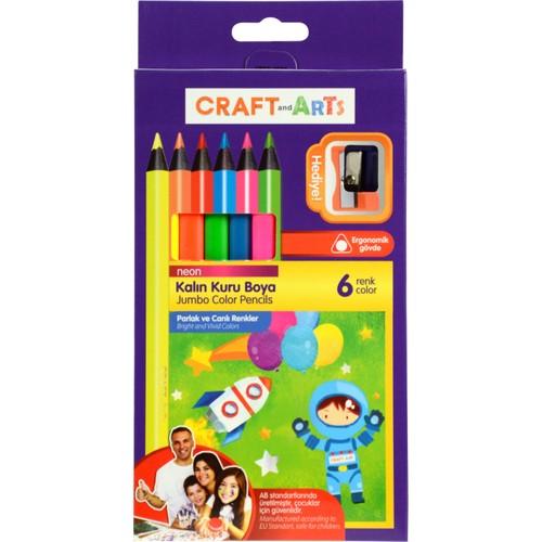 Craft And Arts Jumbo Neon Kuru Boya 6 Renk