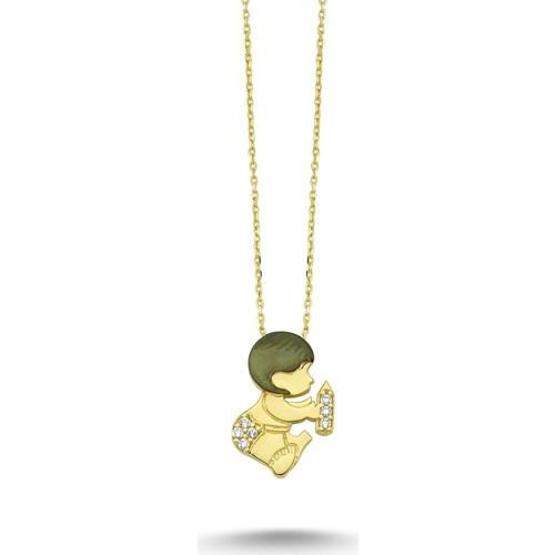 Koçak Gold 14 Ayar Bebek Altın Kolye