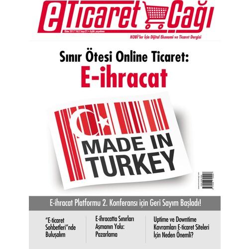 E-Ticaret Çağı Dergisi 3 Aylık Abonelik - Bireysel (3 Sayı)