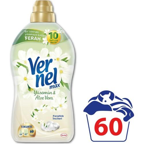 Vernel Max Konsantre Çamaşır Yumuşatıcısı Yasemin Aloevera 1440 ml 60 Yıkama