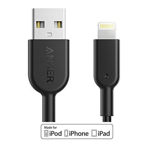 Anker Powerline II Lightning 1.8 Metre iPhone Şarj/Data Kablosu MFI Lisanslı- Siyah