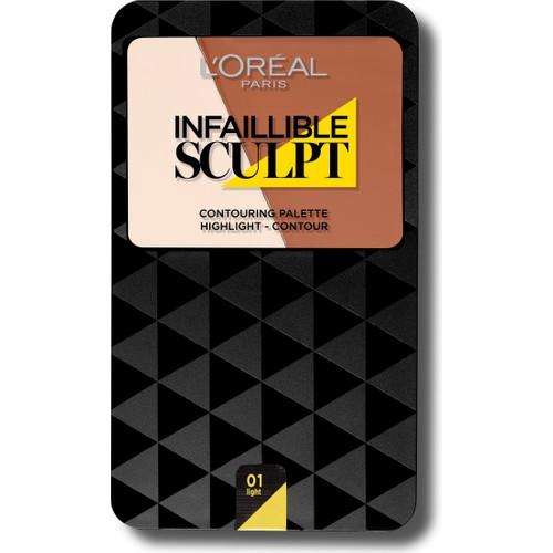 L'Oréal Paris Infaillible Sculpt Palette Kontür Paleti 01 LIGHT MEDIUM