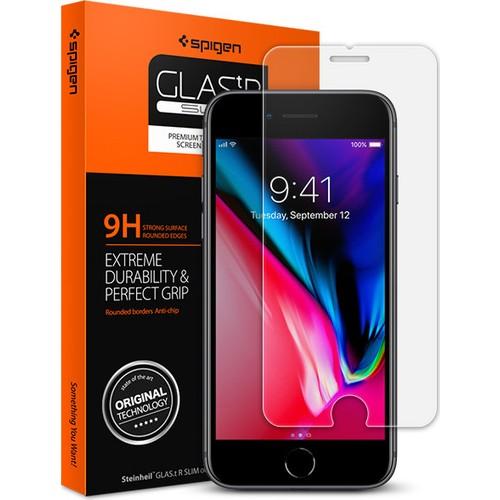 Spigen Apple iPhone 8 - iPhone 7 Cam Ekran Koruyucu GLAS.tR SLIM HD - 042GL20607