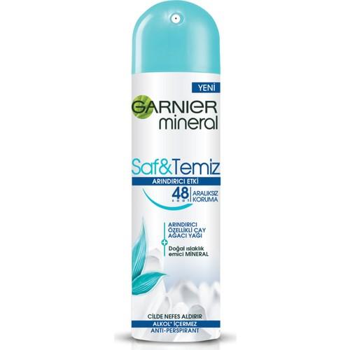 Garnier Mineral Saf&Temiz Sprey Deodorant