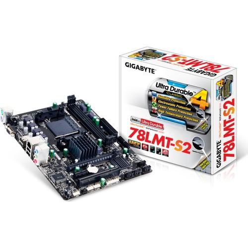 Gigabyte GA-78LMT-S2 AMD 760G DDR3 1333MHz(OC) Soket AM3 mATX Anakart