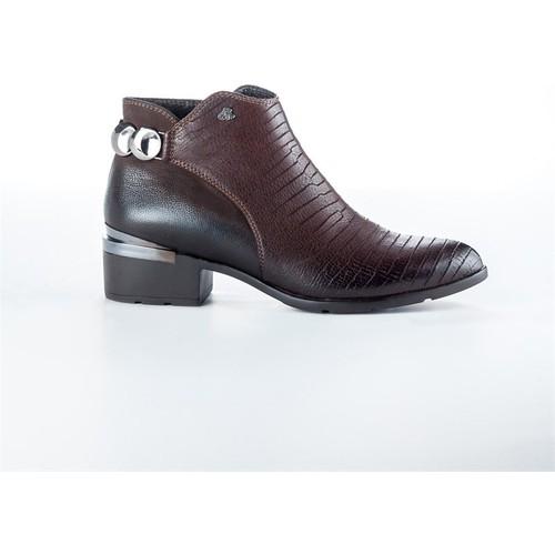 Shop And Shoes 121-6729 Bordo Kadın Bot