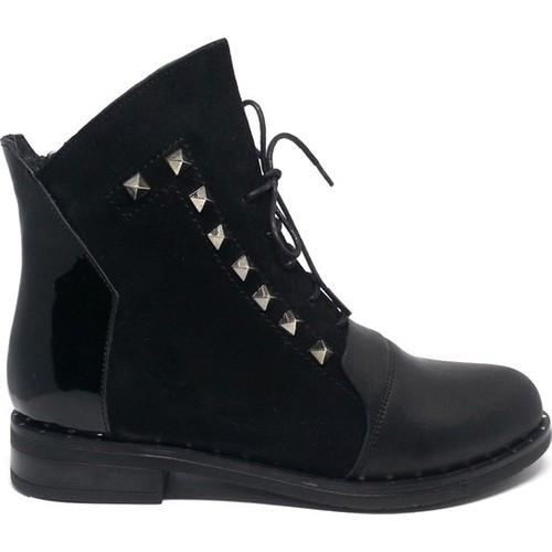 Shop And Shoes 150-1066 Siyah Süet Kadın Bot