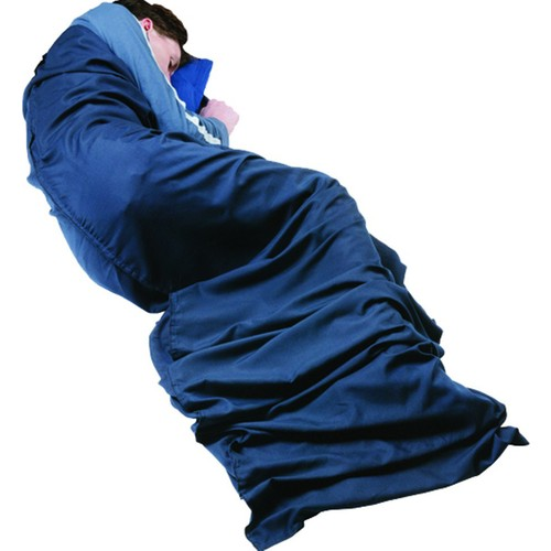 Trekmates Poly/Cot Mummy Sleeping Bag Liner Navy Stch37m-N-Na