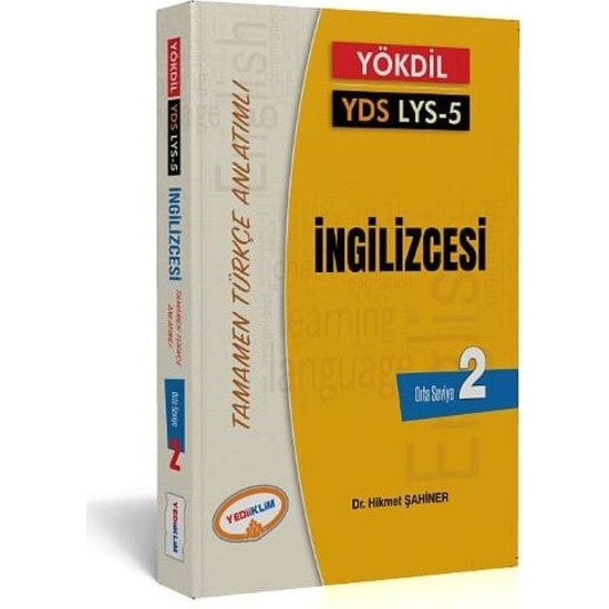 Yediiklim Yayınları YÖKDİL YDS LYS 5 İngilizcesi Seviye 2 Tamamen Türkçe Anlatımlı