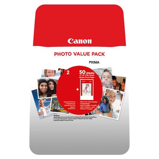 Canon PG-46 + CL-56 Kartuş + 50'li Fotoğraf Kağıdı Value Pack