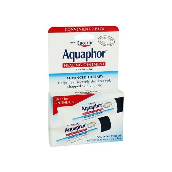 Eucerin Aquaphor Healing Ointment Kuru Cilt ve Çatlamış Dudaklar İçin Onarıcı Bakım Kremi 2li Paket 10 GR
