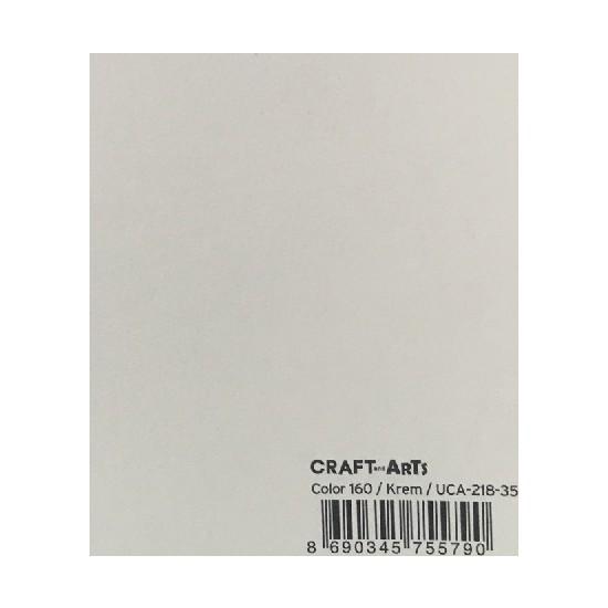 Craft and Arts 35x50 cm 160 gr. Krem Fon Kartonu (Kağıdı) UCA-218-35 H