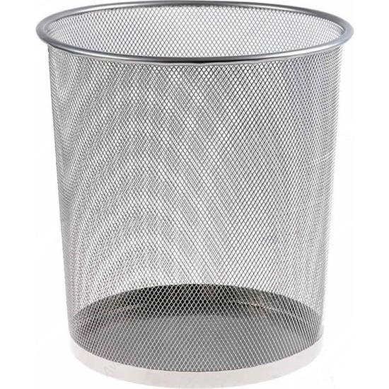 Ofica Tel Çöp Kovası Gümüş Gri 26x22x28 cm