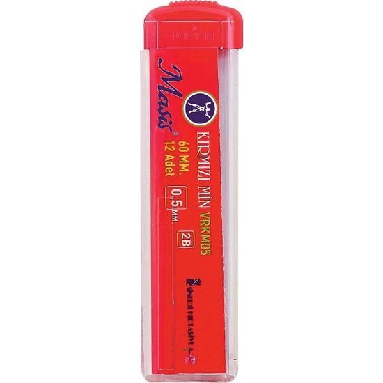 Masis Kırmızı Uç Kalem Ucu 0.5 mm. 60 mm 12'li