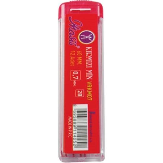 Masis Kırmızı Uç Kalem Ucu 0.7 mm. 60 mm 24 lü
