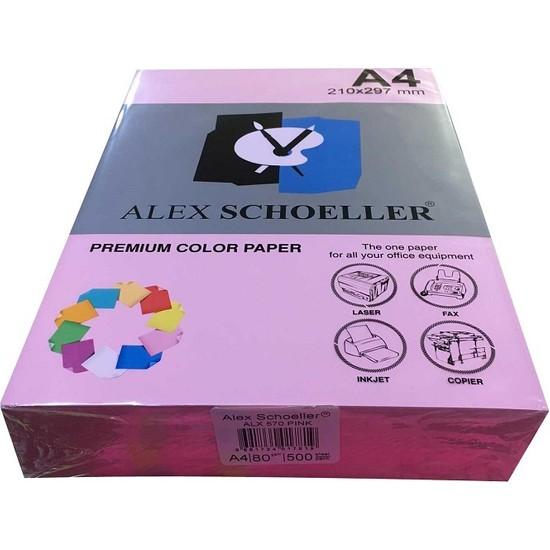 Alex Schoeller A4 Fotokopi Kağıdı 500 lü Pembe 570