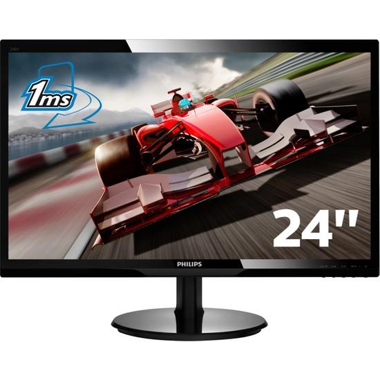 """Philips 246V5LHAB/01 24"""" 1ms (Analog+HDMI) Full HD Led Monitör"""