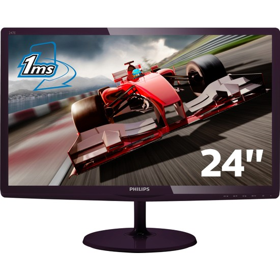 """Philips 247E6LDAD/00 23.6"""" 1ms (Analog+DVI-D+MHL/HDMI) Full HD Monitörü"""