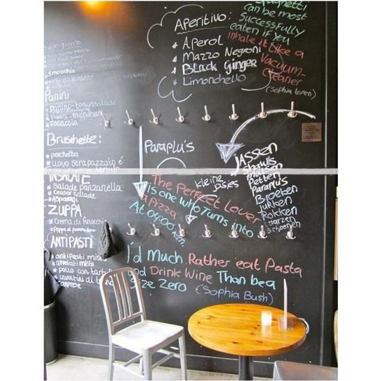 H&F Office Yazılabilir Kara Tahta Yazı Tahtası Duvar Stickerı Pvc Sticker Ve 5 Adet Tebeşir Chalkboard