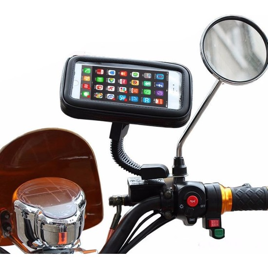Microcase Motorsiklet Dikiz Aynası 4.7 İnch Telefon Tutucu Universal M Model
