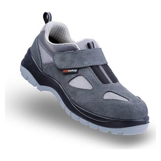 Mekap Policap 157 01 Gri Süet Cırtlı Çelik Burunlu İş Ayakkabısı