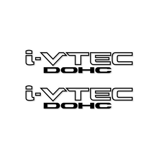 Otografik - Honda İ-Vtec Dohc Oto Stıcker Set 30X7Cm