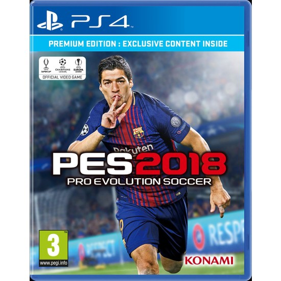 Pes 2018 Premium Edition PS4 Oyun
