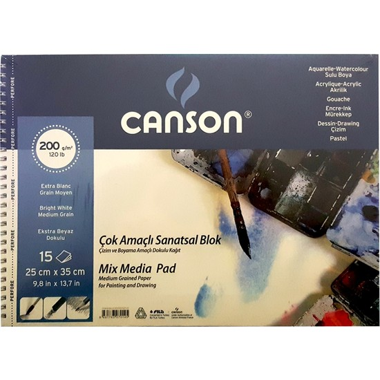Canson Resim Blok 25X35 Finface 200 Gr 20Yp 152535