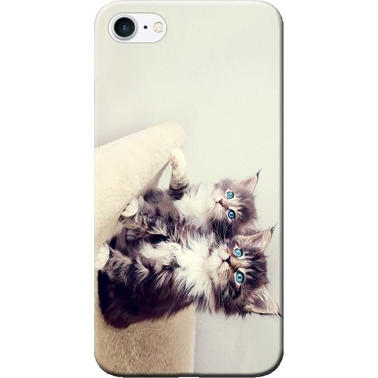Kılıf Merkezi iPhone 6 Plus / 6S Plus Yavru Kediler Baskılı Silikon Kılıf