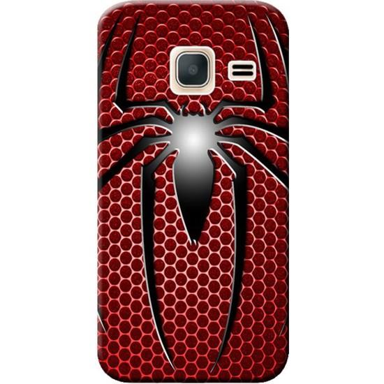 Kılıf Merkezi Samsung Galaxy J1 Mini Sm-J105 Örümcek Baskılı Silikon Kılıf