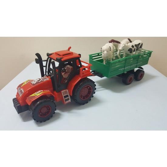 Fonnava Sürtmeli Hayvan Taşıyan Römorklu Traktör Oyuncak Araba