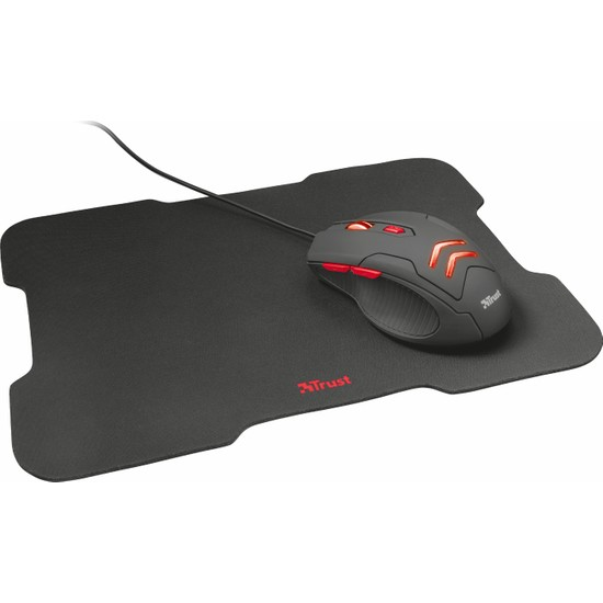 Trust 21963 Ziva 3000 DPI Gaming Oyuncu Mouse ve Mousepad Set
