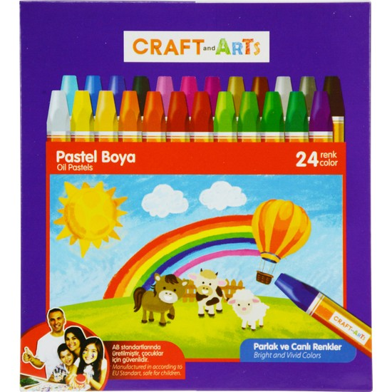 Craft And Arts Pastel Boya 24'lü Karton Kutu