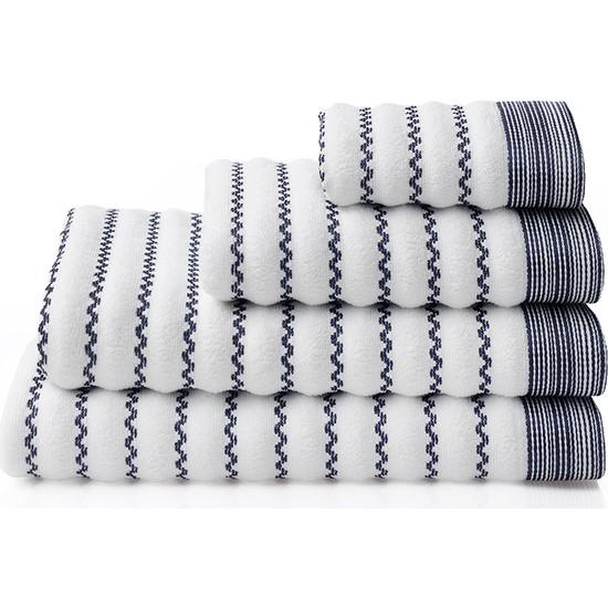 Dost Tekstil Pamuklu MARE Beyaz El Havlusu